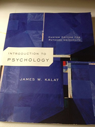 9781285904337: Introduction to Psychology Custom Edition for Rutgers University