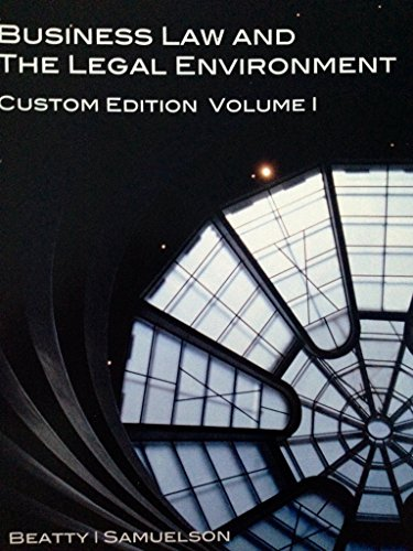 9781285906096: Business Law and the Legal Environment - Custom Edition Vol 1