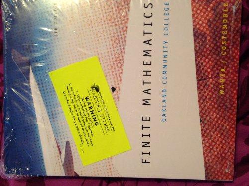 9781285906966: Finite Mathematics- Oakland Community College (6th Edition)
