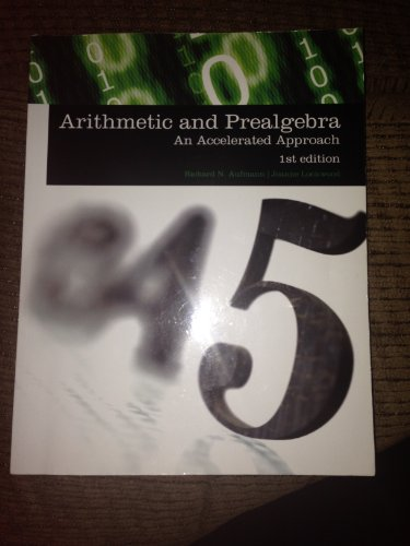 9781285907093: Arithmetic and Prealgebra: An Accelerated Approach