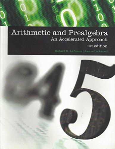 9781285907093: Arithmetic and Prealgebra
