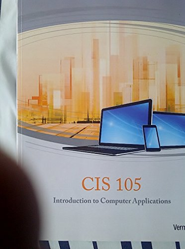 9781285914374: CIS 105 Introduction to Computer Application