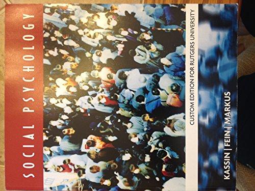9781285916910: Social Psychology Custom Edition for Rutgers University