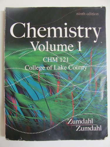 9781285917771: Chemstry Volume 1 College of Lake County CHM 121