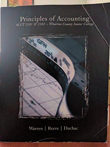 9781285917962: Principles of Accounting Acct 2301 & 2302 - Wharton County Junior College