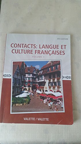 9781285918563: Contacts: Langue Et Culture Francais Volume 1 9th Edition