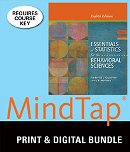 9781285933986: Bundle: Essential of Statistics for the Behavioral Sciences + MindTap Psychology, 1 term (6 months) Access Code