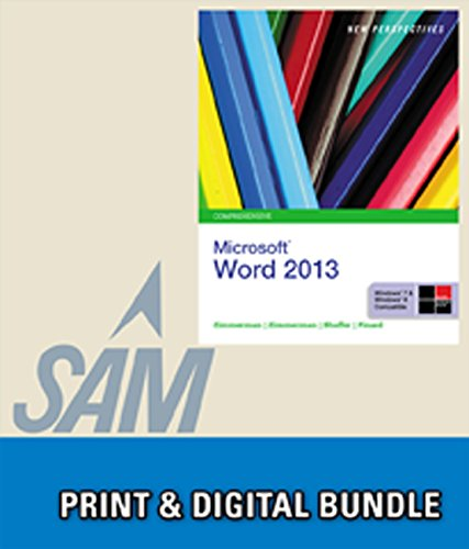9781285939834: Bundle: New Perspectives on Microsoft Word 2013, Comprehensive + SAM 2013 Assessment, Training and Projects with MindTap Reader Printed Access Card