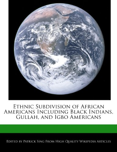 Ethnic Subdivision of African Americans Including Black: Patrick Sing