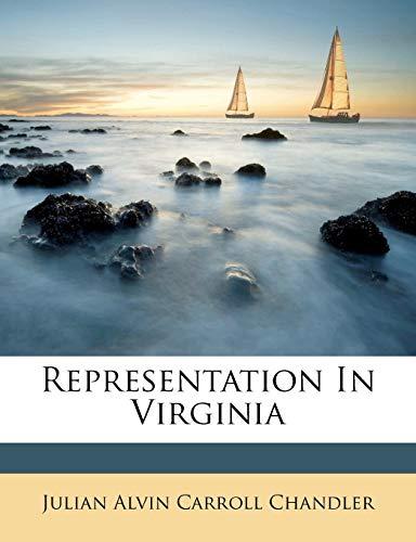 9781286488812: Representation In Virginia