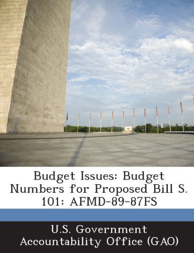 9781287179184: Budget Issues: Budget Numbers for Proposed Bill S. 101: Afmd-89-87fs