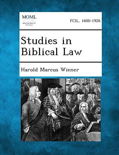 9781287270119: Studies in Biblical Law