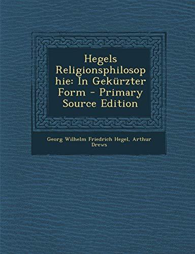 9781287499275: Hegels Religionsphilosophie: In Gekürzter Form