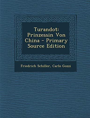 9781287508731: Turandot: Prinzessin Von China (German Edition)