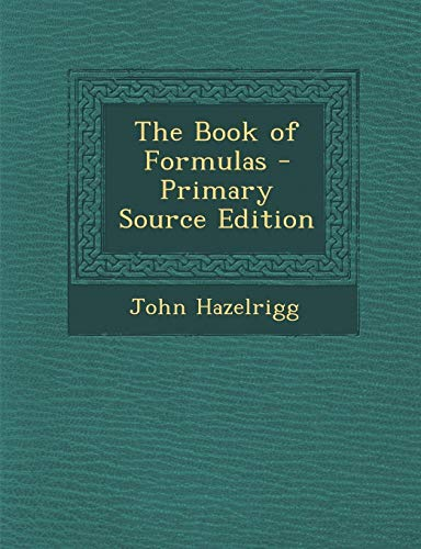 9781287552314: Book of Formulas