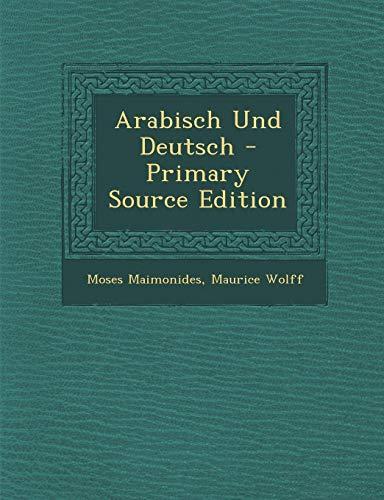 9781287574811: Arabisch Und Deutsch - Primary Source Edition (German Edition)