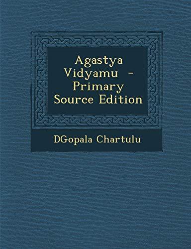 9781287583998: Agastya Vidyamu (Telugu Edition)
