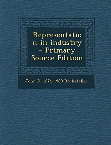 9781287626619: Representation in Industry