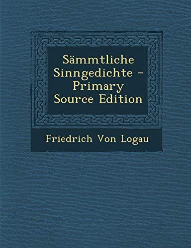 9781287684015: Sämmtliche Sinngedichte (German Edition)