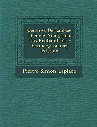 9781287684305: Oeuvres De Laplace: Théorie Analytique Des Probabilités (French Edition)