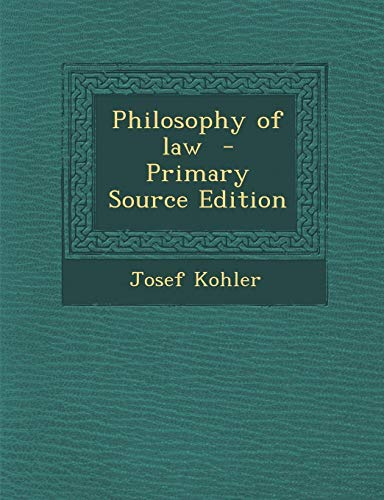 9781287870869: Philosophy of law