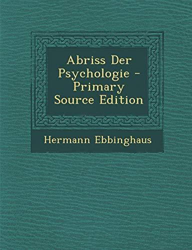 9781287905561: Abriss Der Psychologie (German Edition)
