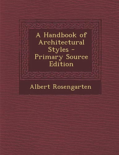 9781287911623: A Handbook of Architectural Styles
