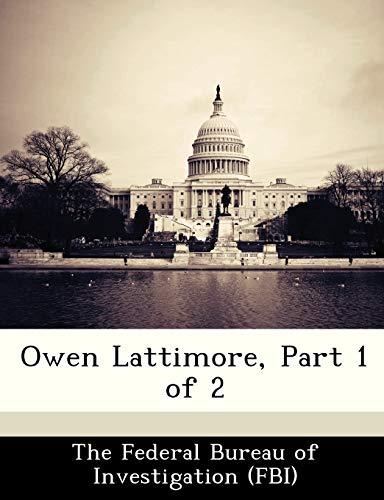 9781288453436: Owen Lattimore, Part 1 of 2