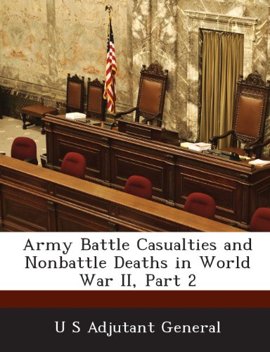 9781288561452: Army Battle Casualties and Nonbattle Deaths in World War II, Part 2