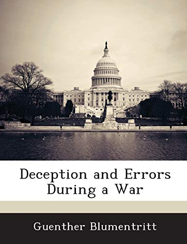 9781288574339: Deception and Errors During a War