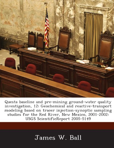 Questa Baseline and Pre-Mining Ground-Water Quality Investigation,: James W Ball