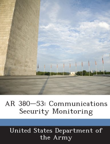 9781288893539: AR 380-53: Communications Security Monitoring