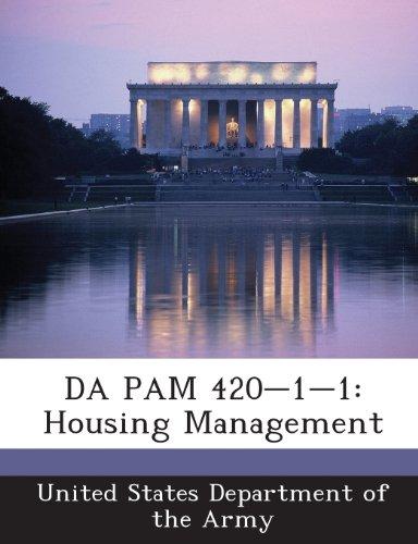 9781288901135: DA PAM 420-1-1: Housing Management