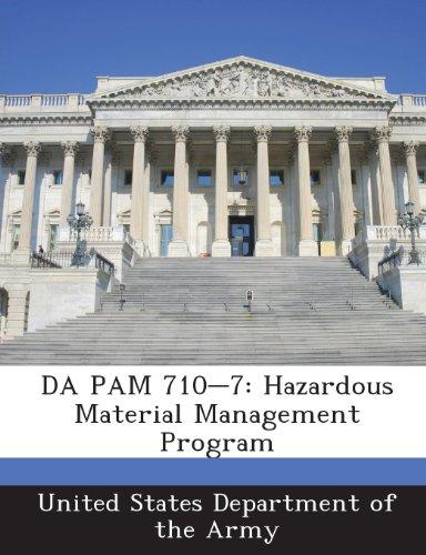 9781288901487: DA PAM 710-7: Hazardous Material Management Program