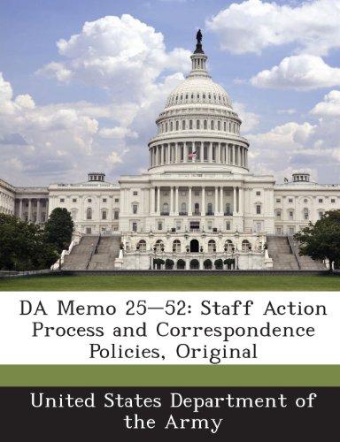 9781288902071: DA Memo 25-52: Staff Action Process and Correspondence Policies, Original