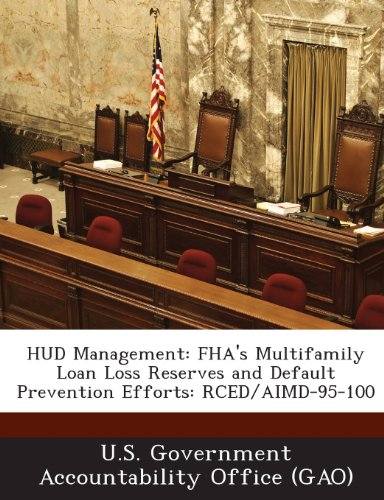 9781289127237: HUD Management: FHA's Multifamily Loan Loss Reserves and Default Prevention Efforts: Rced/Aimd-95-100