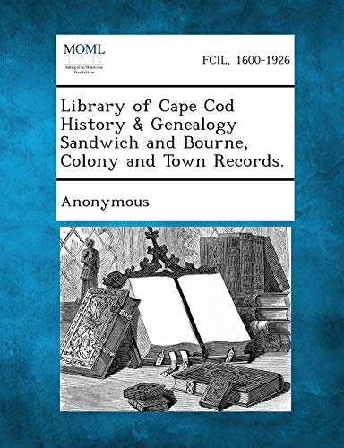 Library of Cape Cod History and Genealogy: Anonymous