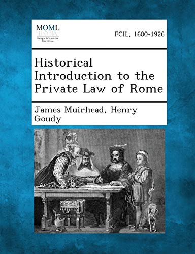 9781289349530: Historical Introduction to the Private Law of Rome
