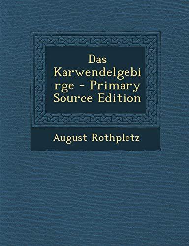9781289409678: Das Karwendelgebirge