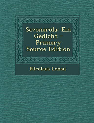 9781289422301: Savonarola: Ein Gedicht