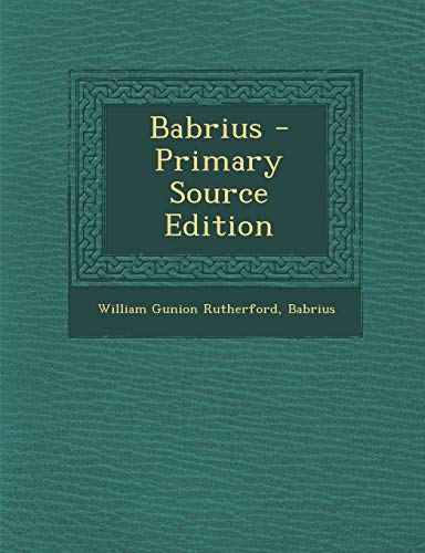 9781289493707: Babrius (Ancient Greek Edition)