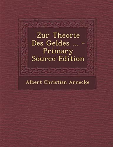 9781289578855: Zur Theorie Des Geldes ...