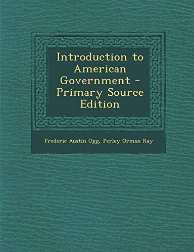 9781289610272: Introduction to American Government