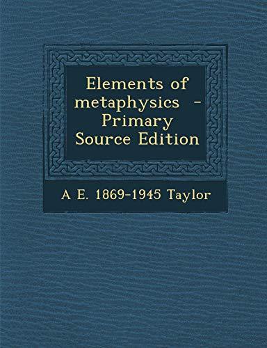 9781289630928: Elements of metaphysics
