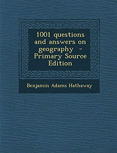 9781289635596: 1001 questions and answers on geography