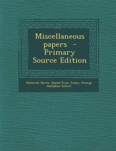 9781289637248: Miscellaneous papers