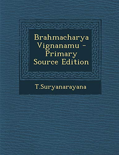 9781289689674: Brahmacharya Vignanamu (Telugu Edition)