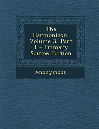 9781289703363: The Harmonicon, Volume 3, Part 1