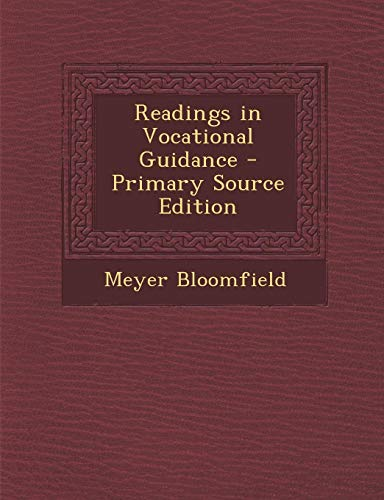 9781289770501: Readings in Vocational Guidance