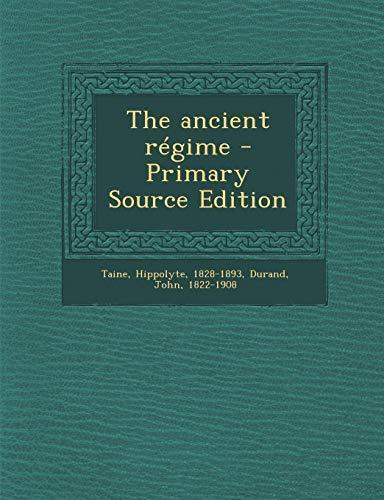 9781289784140: The Ancient Regime